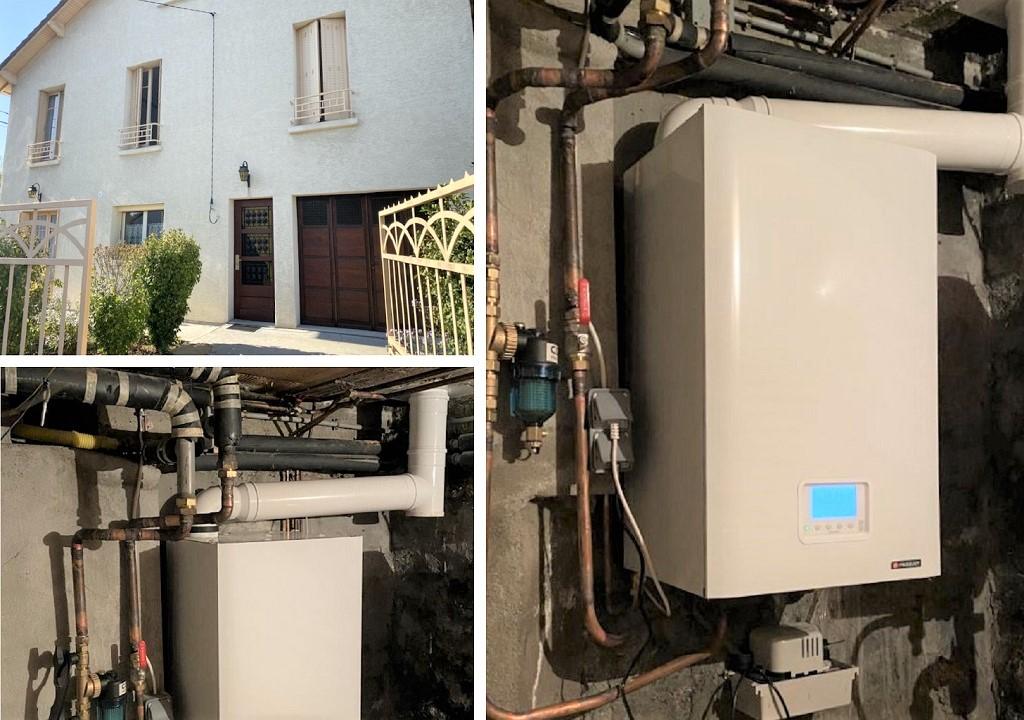 Installateur RGE Eco Artisan - Installation chaudière gaz Frisquet en remplacement d'un  chauffage fioul