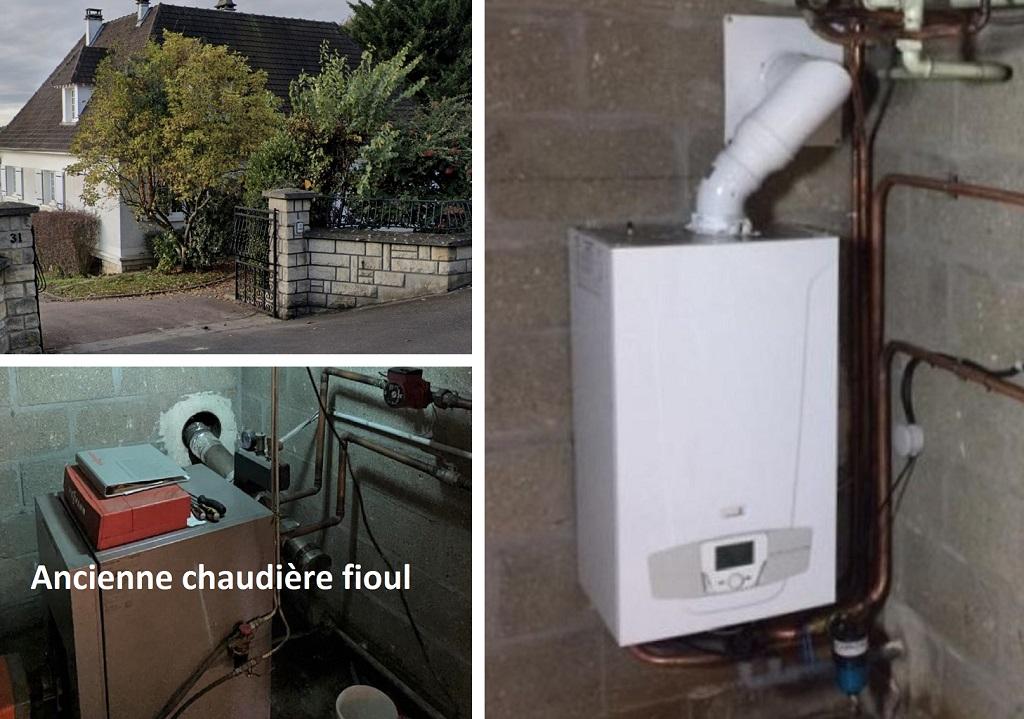 Installation chaudière gaz Chappée Platinum  en remplacement chauffage fioul - Installateur RGE Eco Artisan