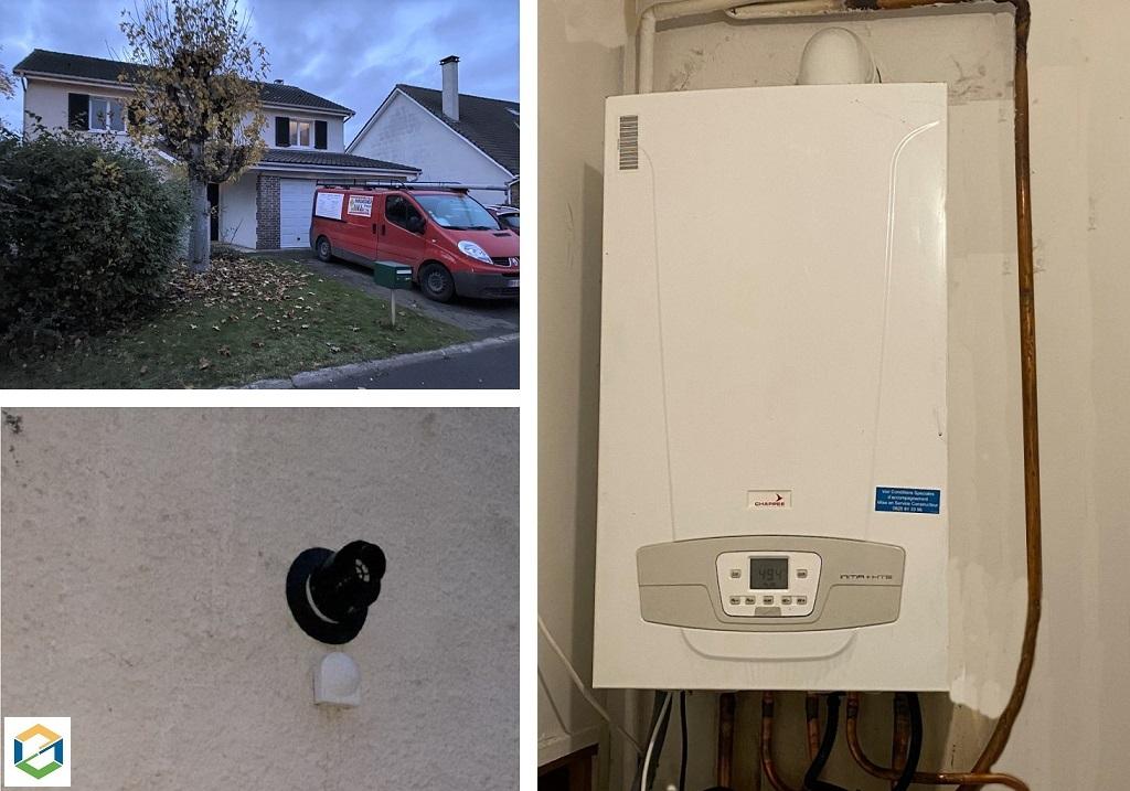 Installation chaudière gaz Chappée Initia 2.4  - Installateur RGE Eco Artisan