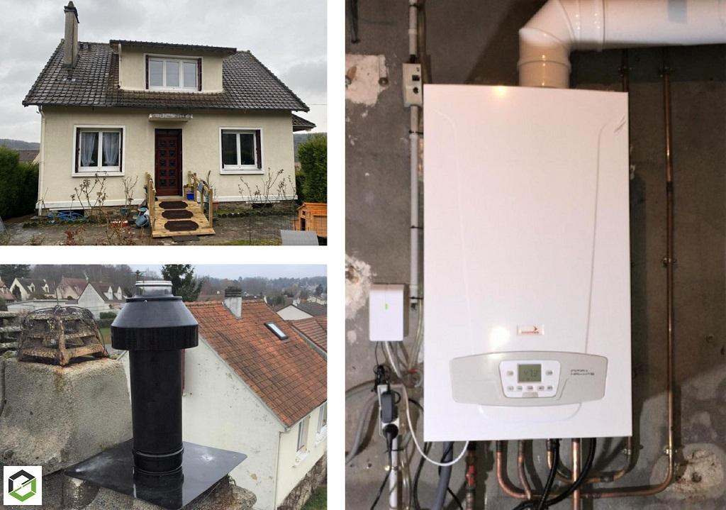 Installation chaudière gaz Chappée  Initia + 2.24 HTE- Installateur RGE Eco Artisan