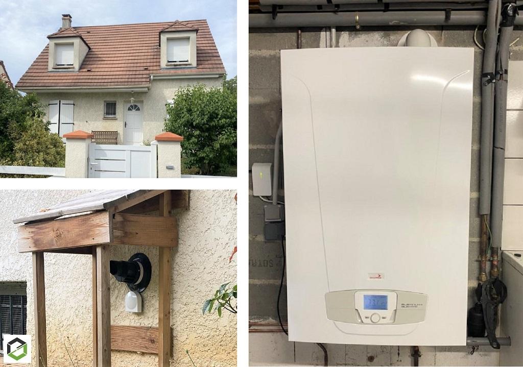 Installateur RGE Eco Artisan - Installation chaudière gaz Chappée Platinum  Luna duo 3,33 HTE
