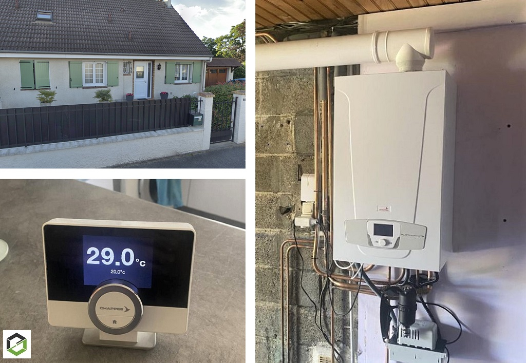 Installateur RGE Eco Artisan - Installation chaudière gaz Chappée Platinum  Luna 2,29 HTE
