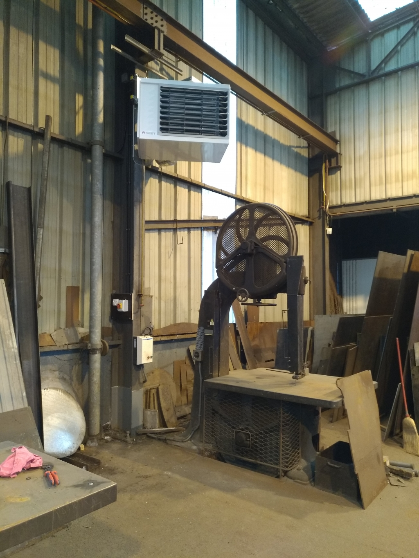 Installation d'aérotherme dans un atelier.-Oise (60)