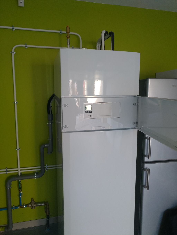 Radiateur basse température avec pompe à chaleur Vaillant