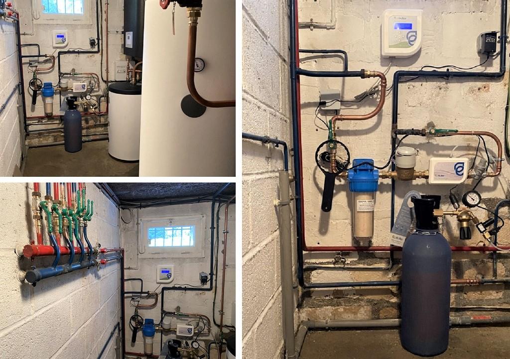 Installation adoucisseur d'eau anti-tartre écologique par injections de CO2 Ecobulles-Oise (60)