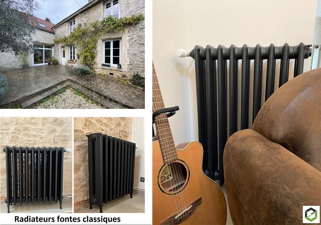 Installation de radiateurs fonte basse température près de Chalon-sur-Saône-Oise (60)
