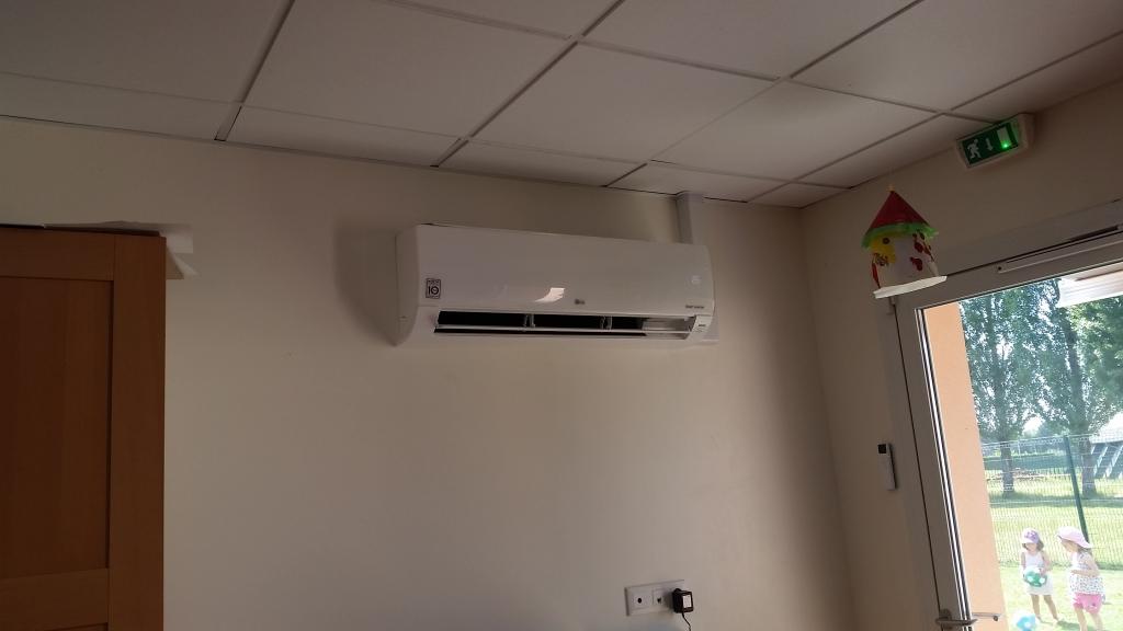 Installation d\'une Climatisation LG dans une salle de créche à la Chapelle la Reine 77760 Seine et Marne Fontainebleau