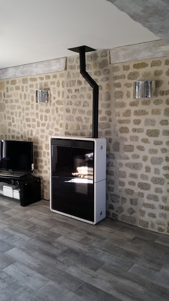 installation d 39 un po le granul s de bois pellets tiny edilkamin coudray 45 330 le. Black Bedroom Furniture Sets. Home Design Ideas