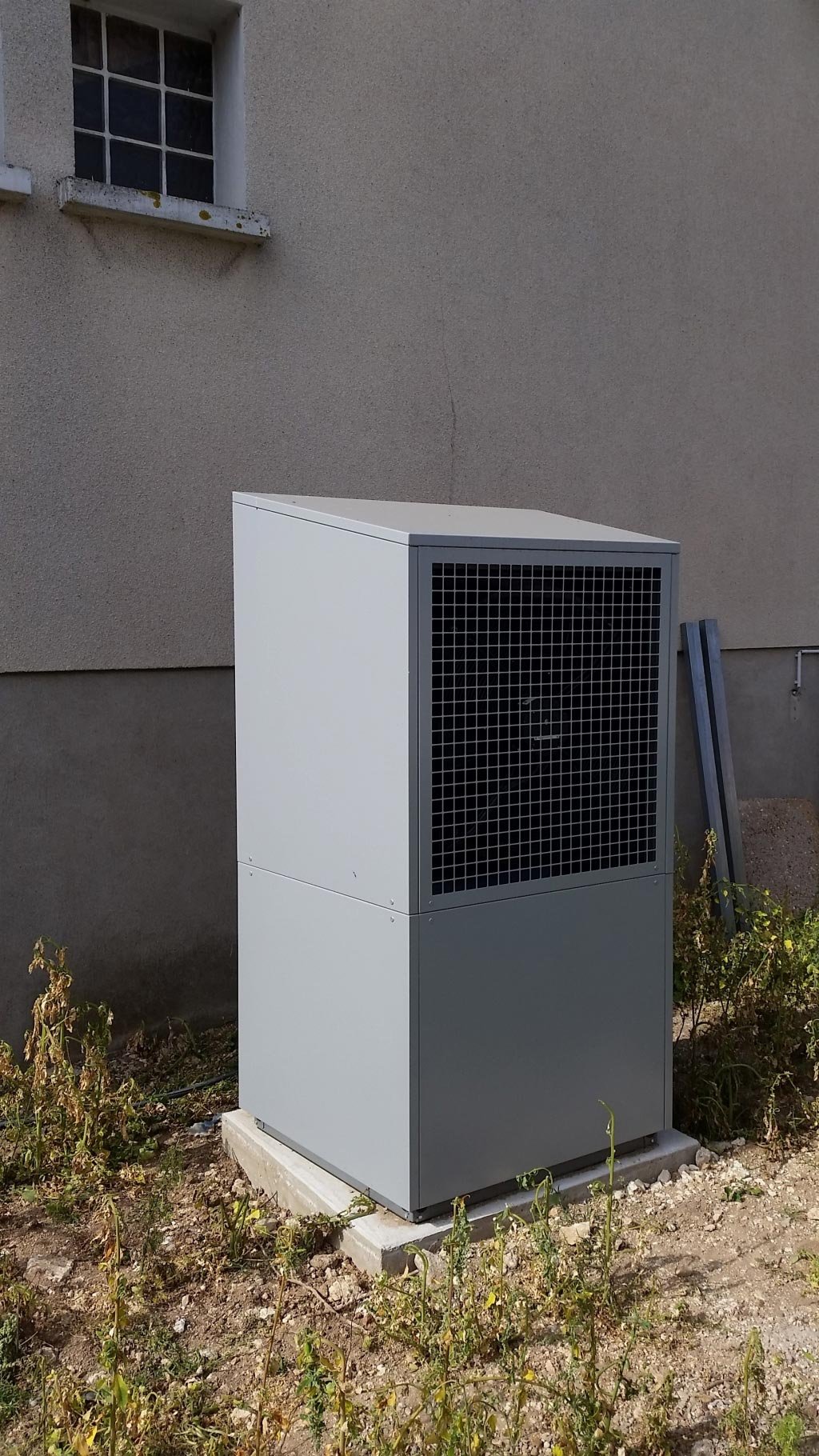 Changement de la chaudière fioul par une pompe à chaleur Air Eau Dimplex à Outarville 45