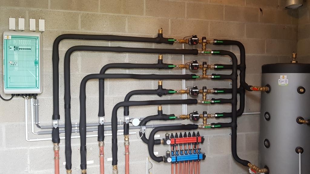 2eme Partie Mise en place d'un système de chauffage par plancher, pompe à chaleur EAU EAU LEMASSON à DADONVILLE 45300
