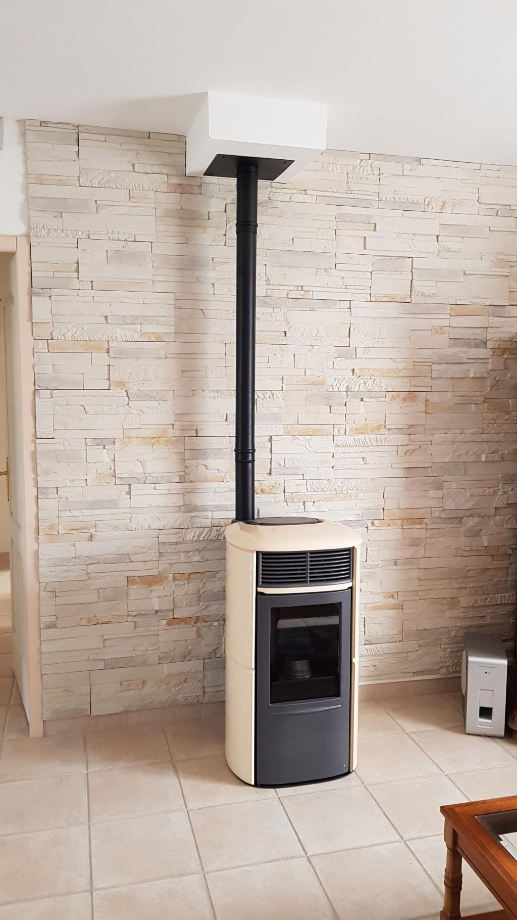 installation d 39 un po le aux granul s de bois pellets aris edilkamin 45 300 pithiviers le vieil. Black Bedroom Furniture Sets. Home Design Ideas