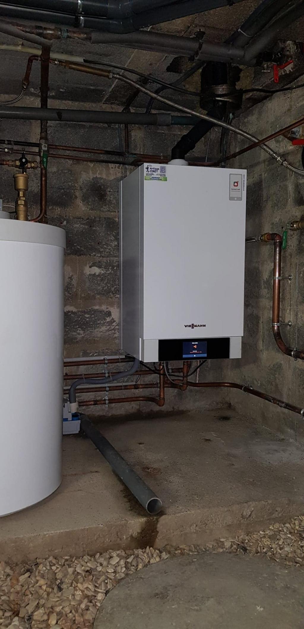 Installateur PROACTIF VIESSMANN : Installation de chaudière gaz à condensation à Le vaudoué proche de Fontainebleau 77123