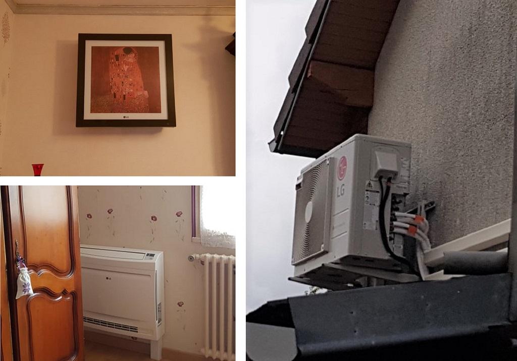 Installateur climaticien :  Installation d'un système de climatisation LG pour le salon et la chambre à la Chapelle la reine