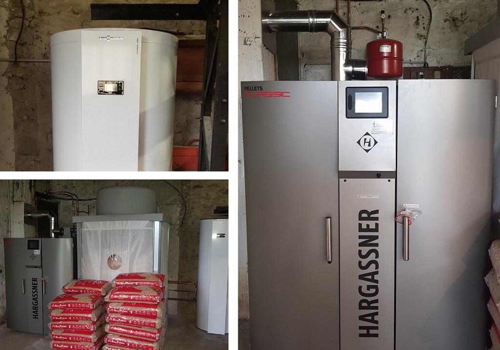 Installateur chaudière aux granulés de bois pellets : Installation d'une chaudière aux granulés de bois HArgassner Classic lambda