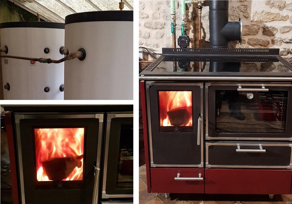 Installateur Cuisinière bois hydraulique : Installation d'une cuisinière bois hydraulique pour chauffer la maison
