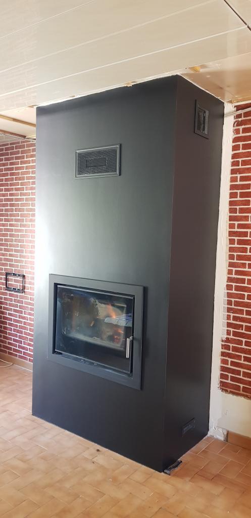Changement de la cheminée standard par un insert ARRADA STOVES à Malesherbes 45330 Le Malesherbois
