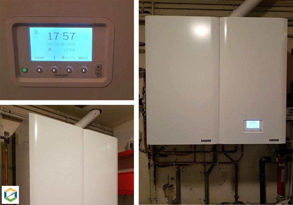 Installateur chauffagiste Milly la forêt : Changement d'une chaudière gaz standard par une chaudière HPE FRISQUET