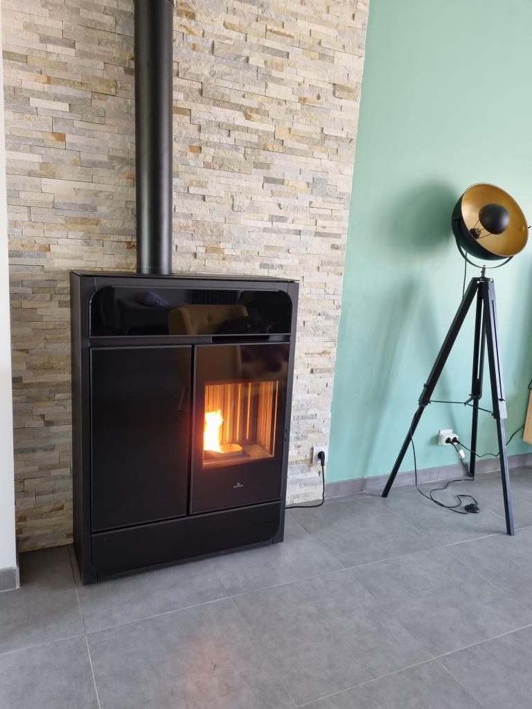 Installateur RGE Poêle granulés : Installation d'un poêle à granulés de bois EDILKAMIN BILD à VRIGNY 45300