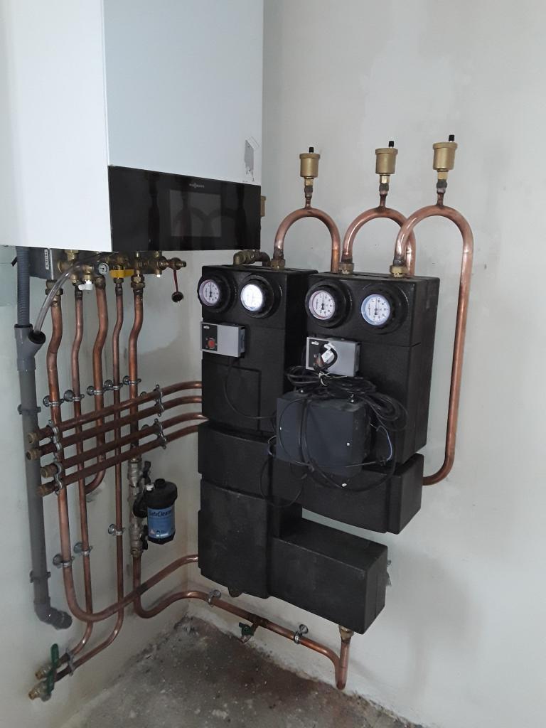 Entreprise PROCATIF  RGE Nemours :  Installation d'une chaudière gaz condensation haute performance VIESSMANN VITODENS 200 à LARCHANT 77 NEMOURS