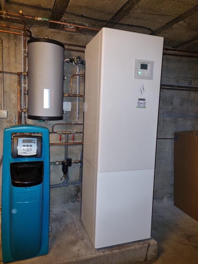 Installateur RGE de pompe à chaleur : Changement d'une chaudière gaz par une pompe à chaleur HITACHI YUTAKI S 80 à LARCHANT  77