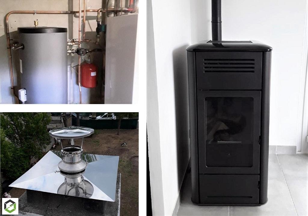 Installateur de poêle RGE : Installation d'un poêle hydraulique de marque EDILKAMIN type MILLA H