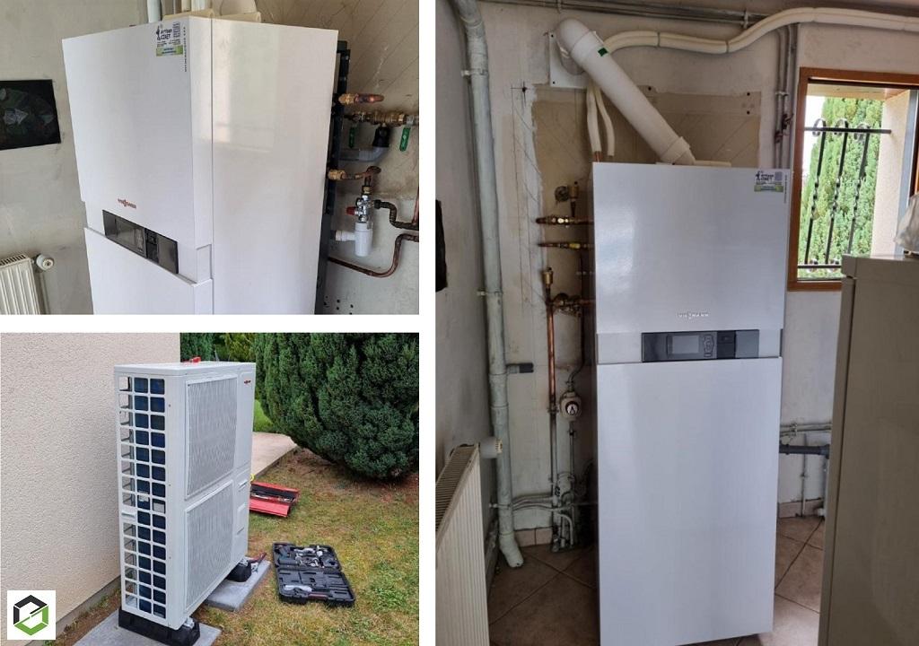 Installateur de pompe a chaleur PROACTIF Viessmann : Installation d'une pompe à chaleur Hybride Air-Eau / Gaz Propane