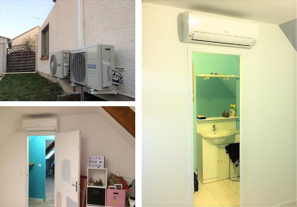 Installation pompe à chaleur air/air en étage à Saran Loiret