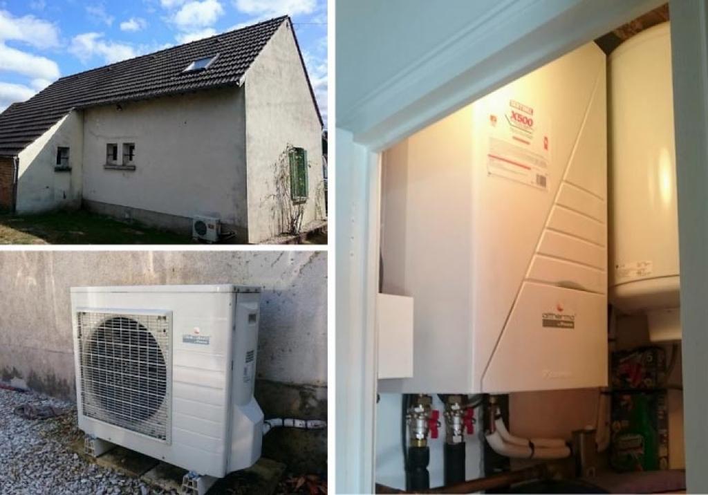 Pompe à chaleur air-eau Daikin remplacement d'une chaudière fioul à Sully sur Loire 45 Loiret