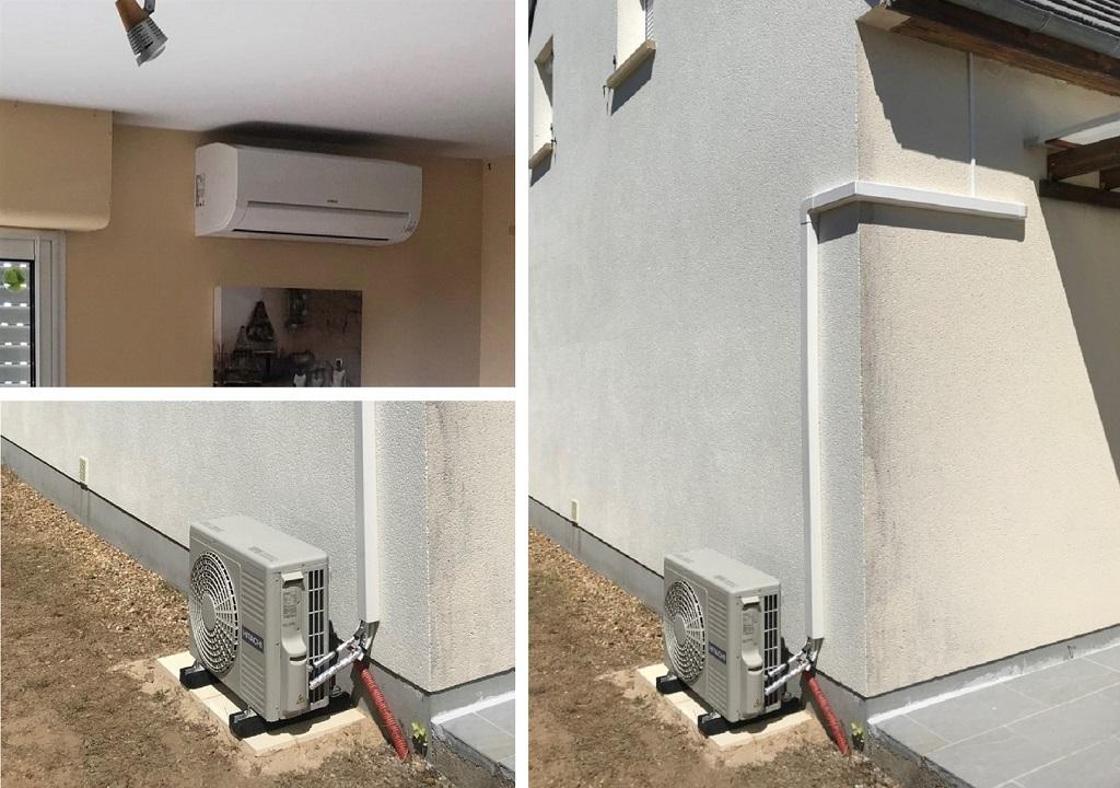 Installation d'un système de pompe à chaleur air/air Hitachi à Tigy dans le Loiret