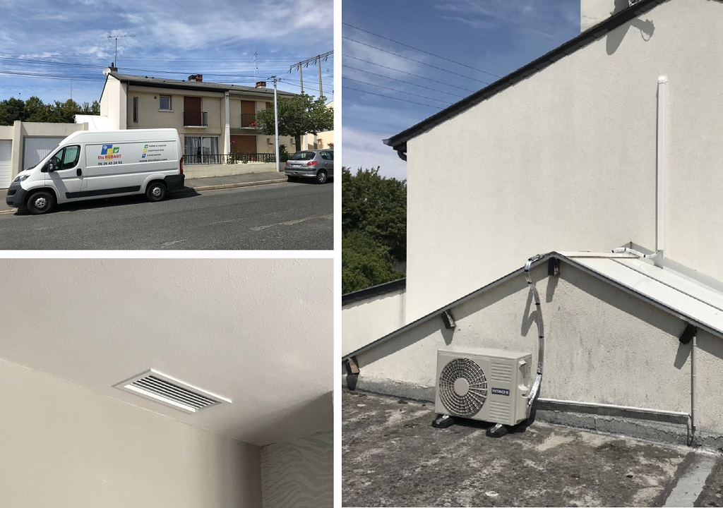 Chauffage central par gainable - pompe à chaleur gainable Hitachi air/air à Saran dans le Loiret
