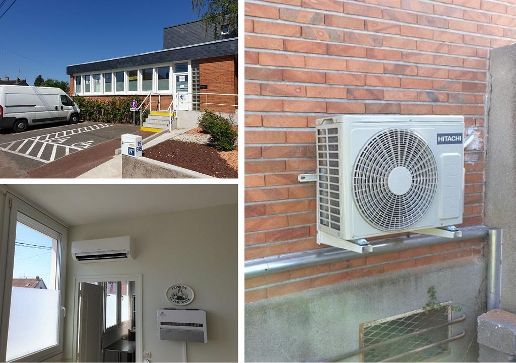 Installation d'un système de pompe à chaleur air/air de marque Hitachi