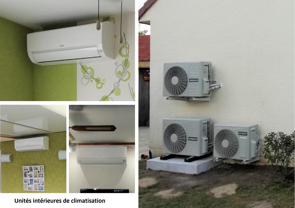 Installation d'un système de pompe à chaleur air/air de marque Hitachi à Fleury-les-Aubrais dans le Loiret
