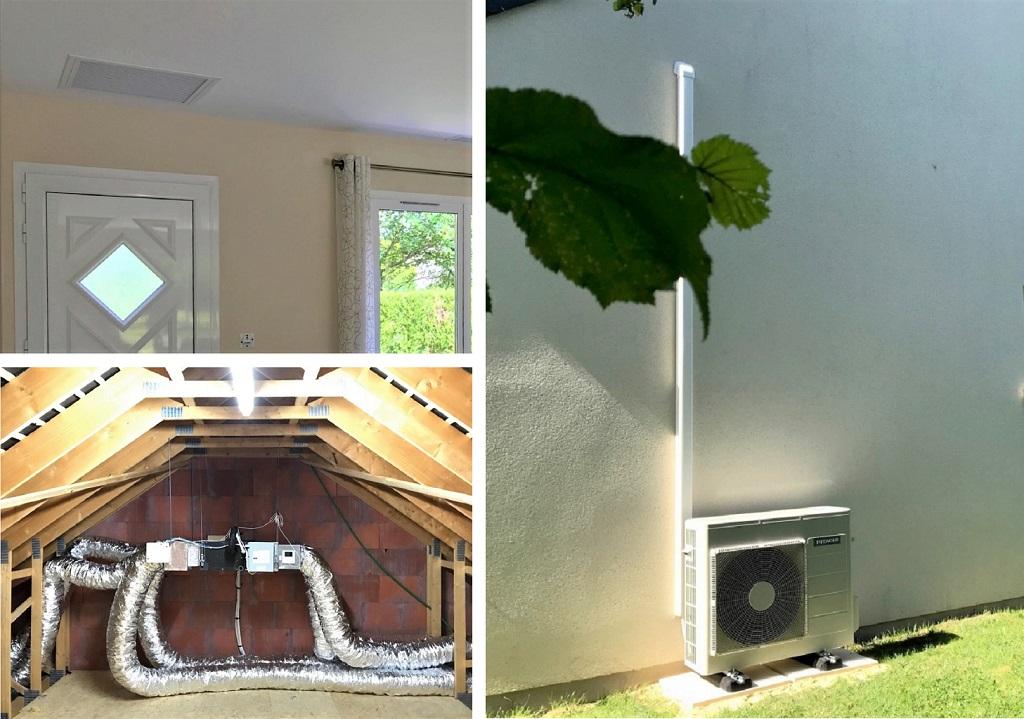 Chauffage central par gainable - pompe à chaleur gainable Hitachi air/air à Saint-Jean-de-la-Ruelle dans le Loiret