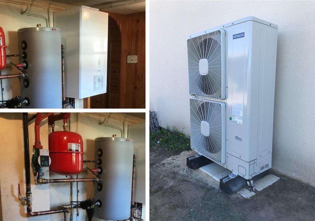 Installation d'une pompe à chaleur air/eau Hitachi Yutaki S premium à Tigy dans le Loiret