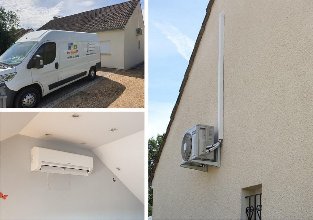 Installation d'un système de pompe à chaleur air/air de marque Hitachi à Bonnée dans le Loiret