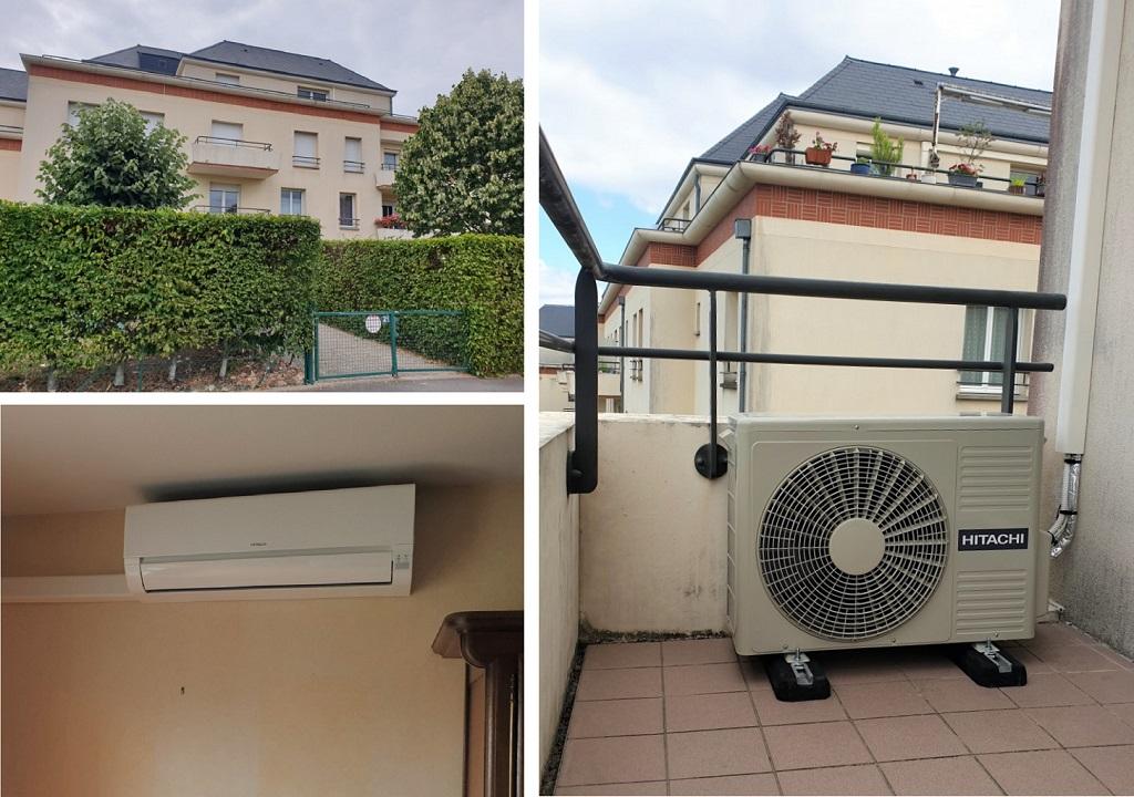Installation d'un système de pompe à chaleur air/air de marque Hitachi à Saint-Jean-de-Braye dans le Loiret