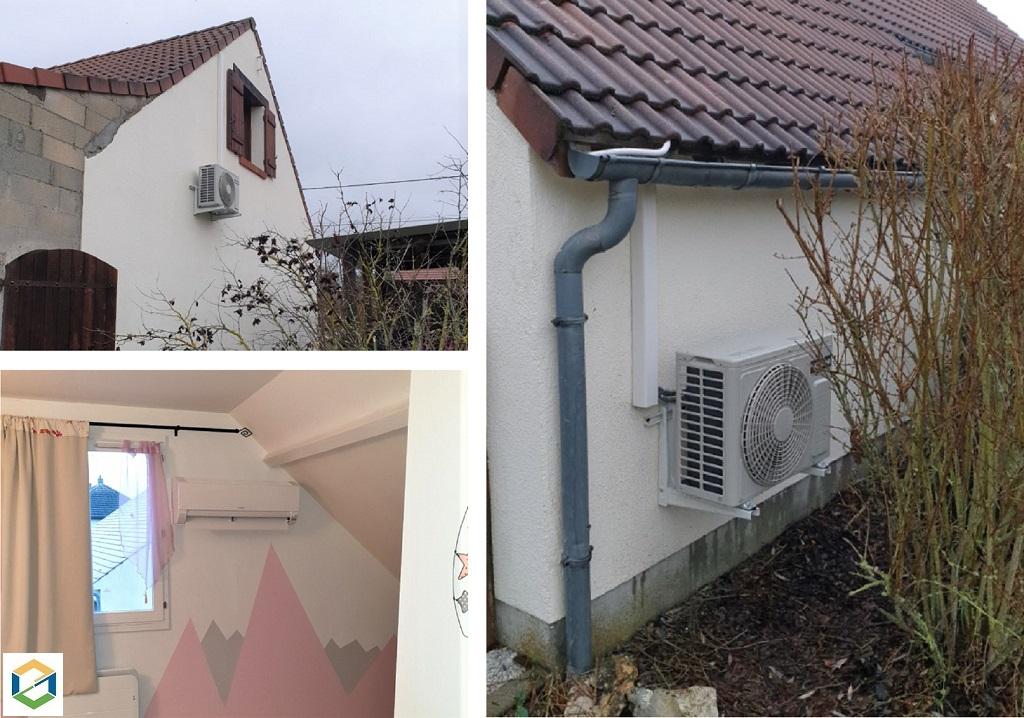 Installation d'un système de pompe à chaleur air/air de marque Hitachi dans le Loiret (45)