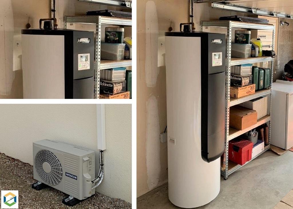 Installation d'un chauffe-eau thermodynamique Hitachi Yutampo 2