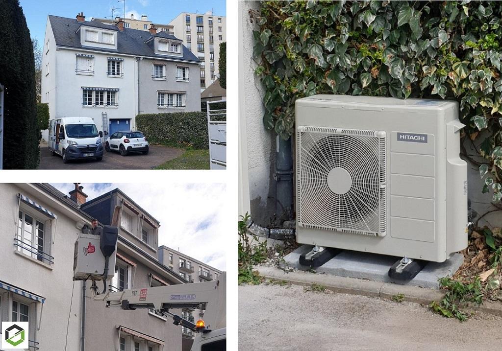 Installation d'un système de pompe à chaleur air/air (climatisation) gamme Multizonne Inverter Hitachi-Loiret (45)
