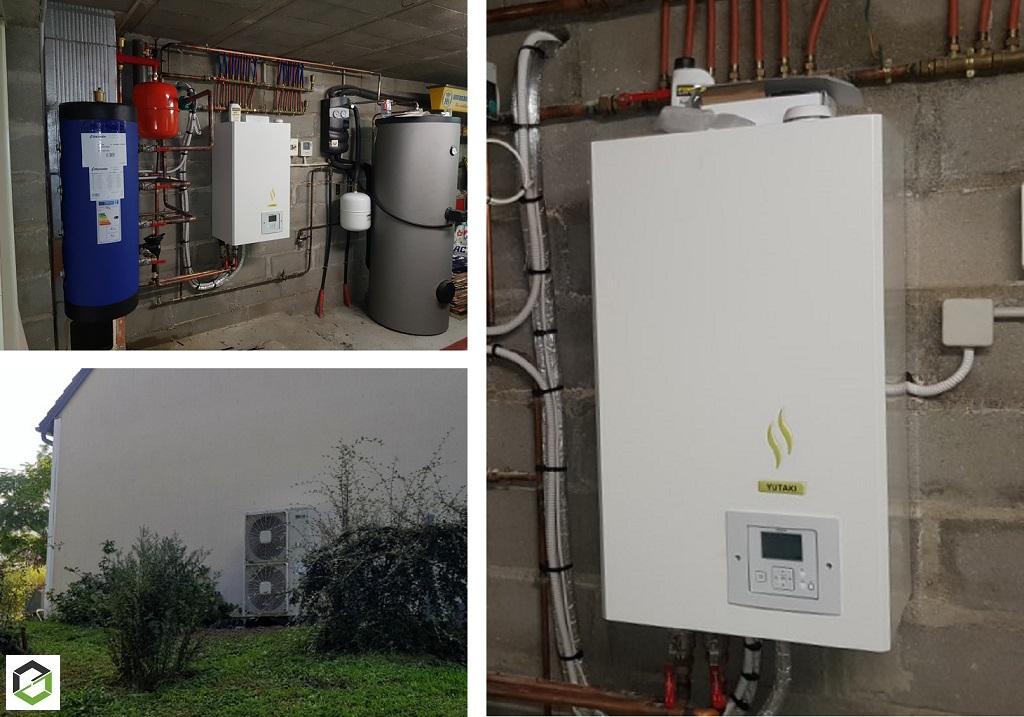 Installation d'une pompe à chaleur air/eau Hitachi modèle Yutaki S premium - Entreprise RGE QualiPAC-Loiret (45)