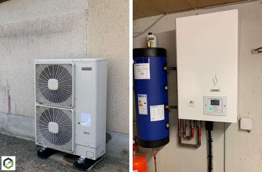 Installation d'une pompe à chaleur air/eau Hitachi modèle Yutaki S premium - Artisan RGE QualiPAC-Loiret (45)