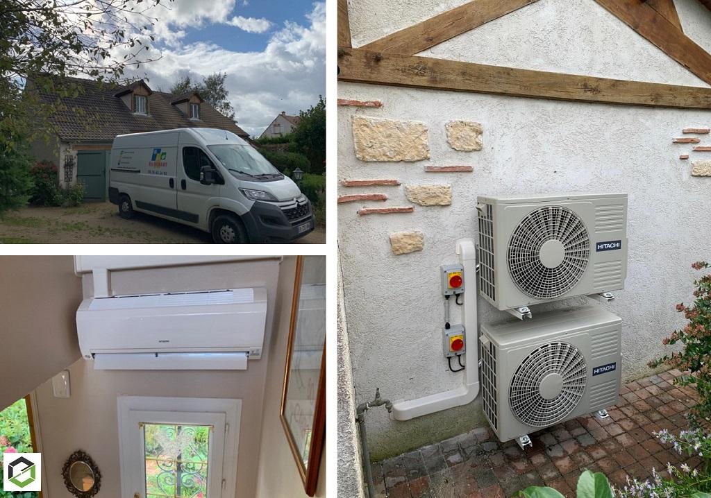 Installation de climatisations réversible Hitachi modèle Mokai - Entreprise RGE QualiPac-Loiret (45)