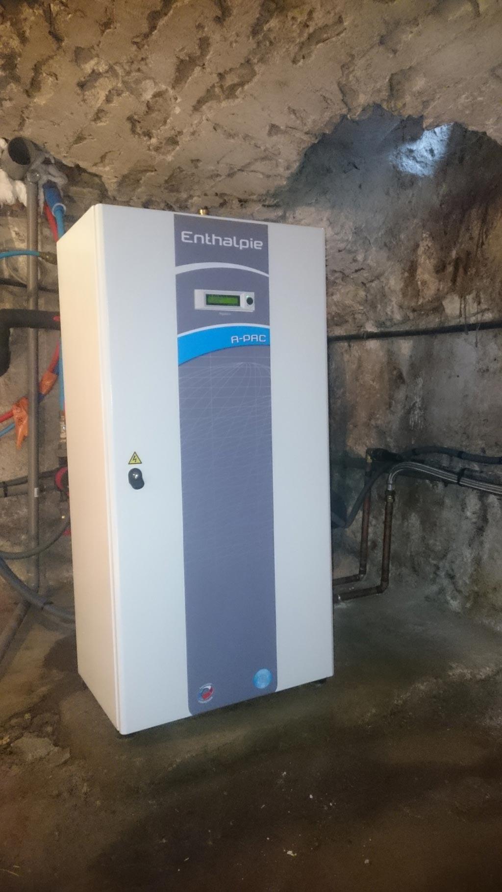 Géothermie Loiret, installation d'une pompe à chaleur eau/eau Sigloy 45