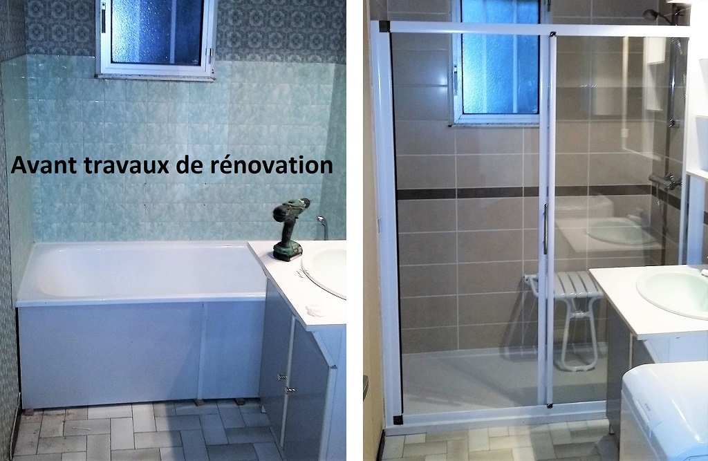Remplacement d'une baignoire par une douche PMR, LE MESNIL THERIBUS, 60240, OISE, 60.