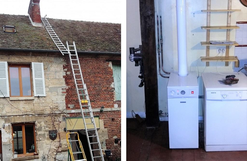 Installation d'une chaudière fioul à condensation, BOSCH OLIO CONDENS 2000 F, à FRESNE LEGUILLON, 60240, OISE, 60.