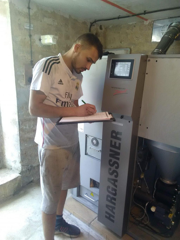 Entretien d'une chaudière à granulés de bois HARGASSNER CLASSIC 22 kW, THEMERICOURT, 95450.