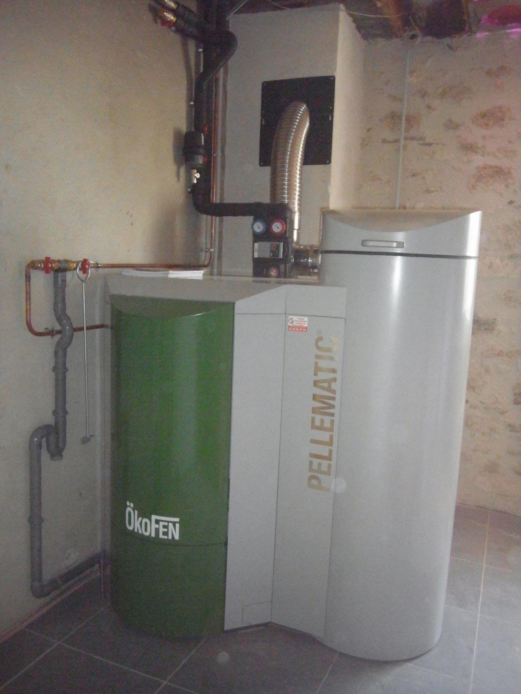Installation d'une chaudière Okofen PEB 25 kW