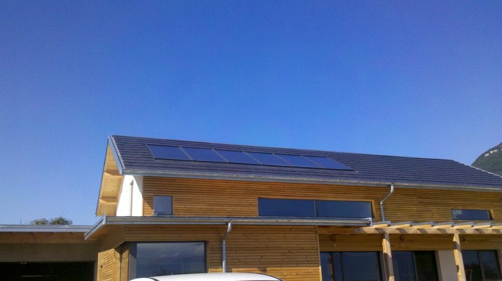 Chauffage solaire SOLISART appoint par réchauffeur de boucle électrique Thermador-Savoie (73)