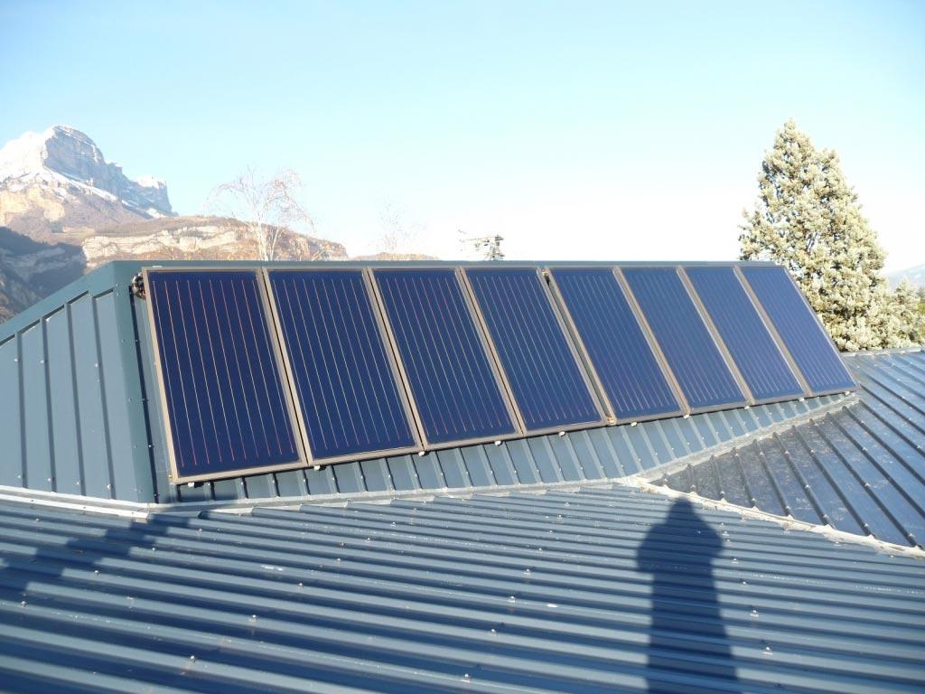 chauffage solaire SOLISART en rénovation sur bac acier