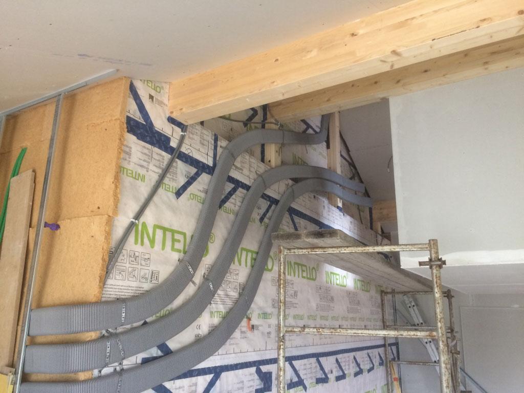 installation d'une ventilation double flux Zehnder Comfoair 200